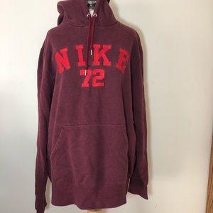 Men's Red Nike Hoodie Sweatshirt Spellout XL